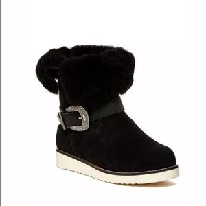 Australia Luxe Yvent Foldover Shearling Boots NEW